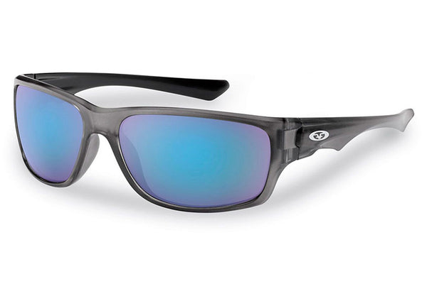 Flying Fisherman - Roller 7760 Crystal Gunmetal Sunglasses, Smoke-Blue Mirror Lenses