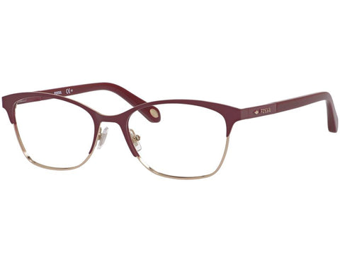 Fossil - 6059  Red Ruby  Eyeglasses / Demo  Lenses