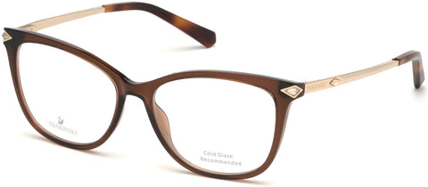 Swarovski - SK5284 53mm Light Brown Eyeglasses / Demo Lenses