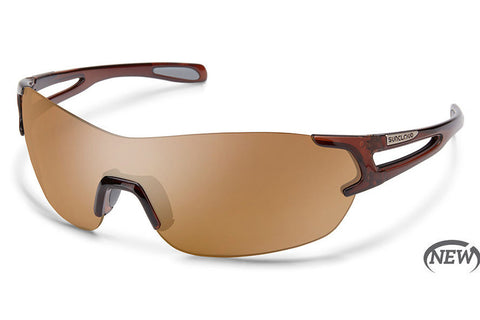 Suncloud - Airway Crystal Brown Sunglasses, Sienna Mirror Lenses