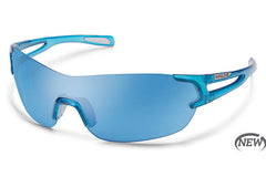Suncloud - Airway Crystal Blue Sunglasses, Blue Mirror Lenses