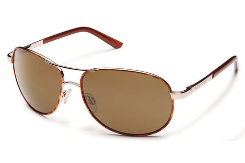 Suncloud - Aviator Tortoise Sunglasses, Brown Polarized Polycarbonate Lenses