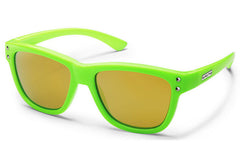 Suncloud Carob Small Fit Green Sunglasses, Yellow Mirror Polarized Polycarbonate Lenses