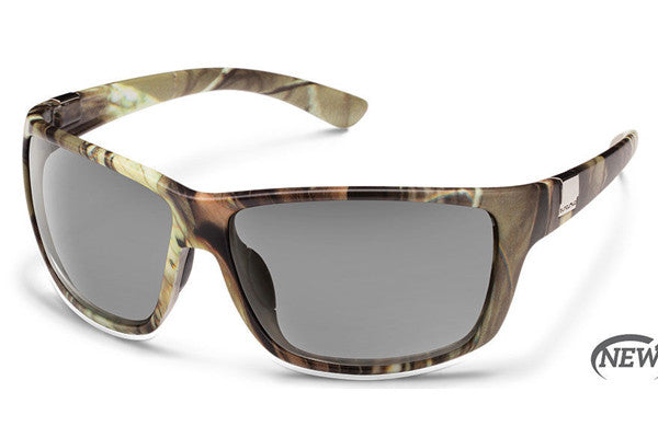 Suncloud - Councilman Matte Camo Sunglasses, Gray Polarized Lenses