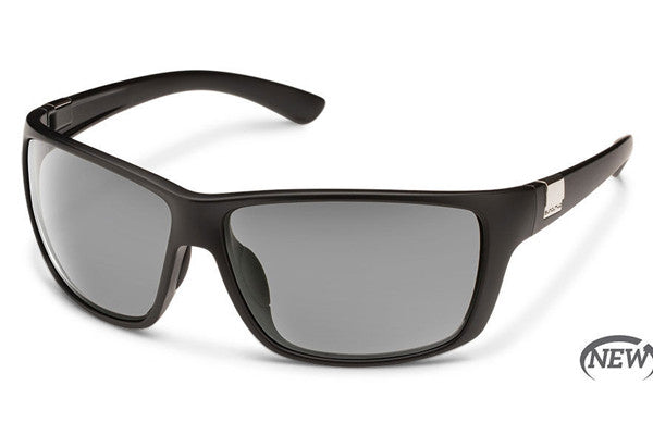 Suncloud Councilman Matte Black Sunglasses, Gray Polarized Lenses