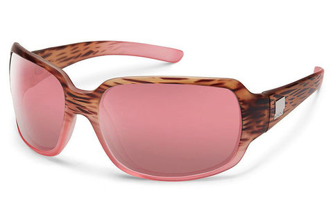 Suncloud - Cookie Matte Tortoise Pink Fade Sunglasses, Rose Lenses