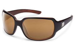 Suncloud - Cookie Matte Black Backpaint Sunglasses, Sienna Mirror Lenses