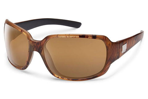 Suncloud - Cookie Matte Tortoise Backpaint Sunglasses, Sienna Mirror Lenses