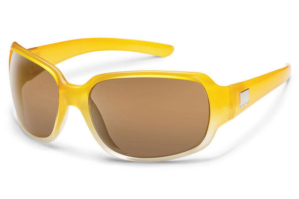 Suncloud - Cookie Yellow Fade Sunglasses, Sienna Mirror Polarized Lenses