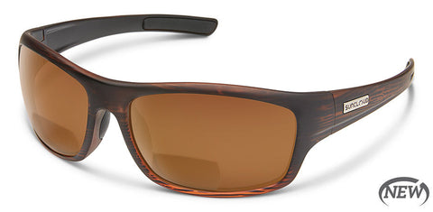Suncloud - Cover Burnished Brown Reader Sunglasses / Polarized Brown 2.00 Lenses