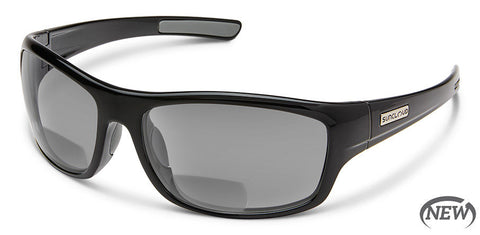 Suncloud - Cover Black Reader Sunglasses / Polarized Black 2.00 Lenses