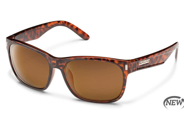 Suncloud Dashboard Tortoise Sunglasses, Brown Polarized Lenses