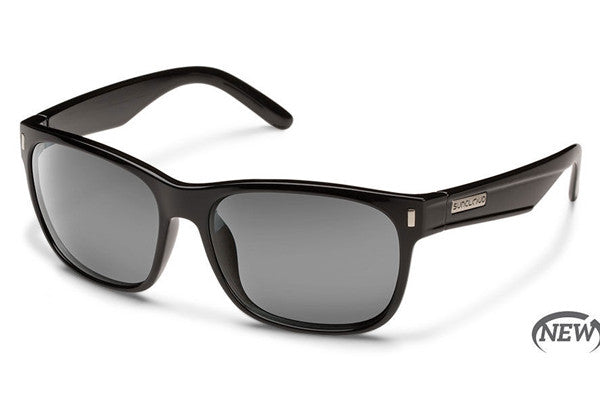 Suncloud - Dashboard Black Sunglasses, Gray Polarized Lenses