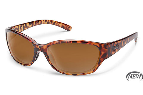 Suncloud Duet Tortoise Sunglasses, Brown Lenses