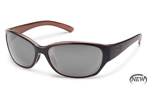 Suncloud Duet Black Backpaint Sunglasses, Gray Lenses