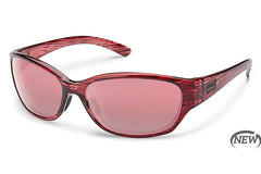 Suncloud Duet Rose Stripe Sunglasses, Rose Lenses