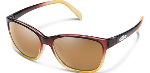 Suncloud - Dawson Brown Fade Sunglasses / Polarized Sienna Mirror Lenses