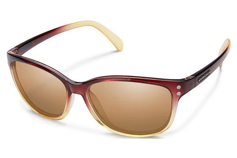 Suncloud - Flutter Brown Fade Sunglasses, Sienna Mirror Lenses