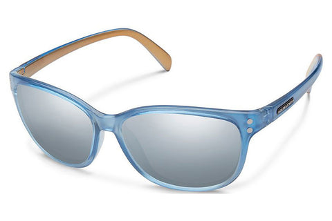 Suncloud - Flutter Periwinkle Backpaint Sunglasses, Silver Mirror Lenses