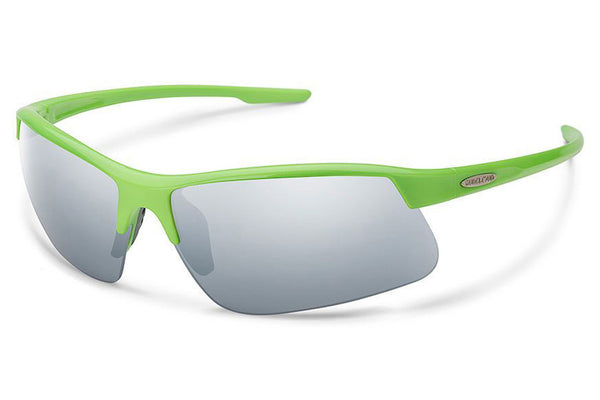 Suncloud - Flyer Green Sunglasses, Silver Mirror Lenses