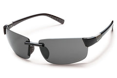Suncloud Getaway Black Sunglasses, Gray Polarized Polycarbonate Lenses