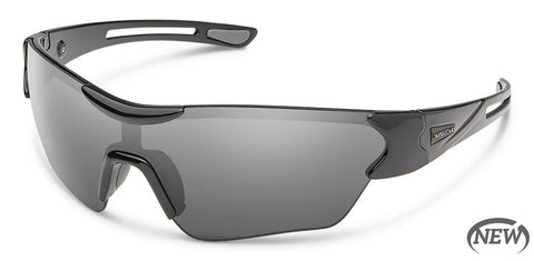 Suncloud - Hotline Black Sunglasses / Polarized Gray Lenses