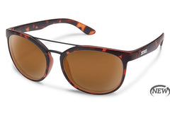Suncloud Liberty Matte Tortoise Sunglasses, Brown Lenses
