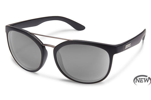 Suncloud - Liberty Matte Black Sunglasses, Gray Lenses