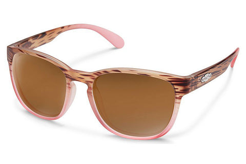 Suncloud - Loveseat Matte Tort Pink Fade Sunglasses, Brown Lenses