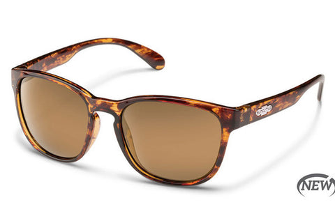 Suncloud - Zephyr Tortoise Sunglasses, Brown Polarized Lenses