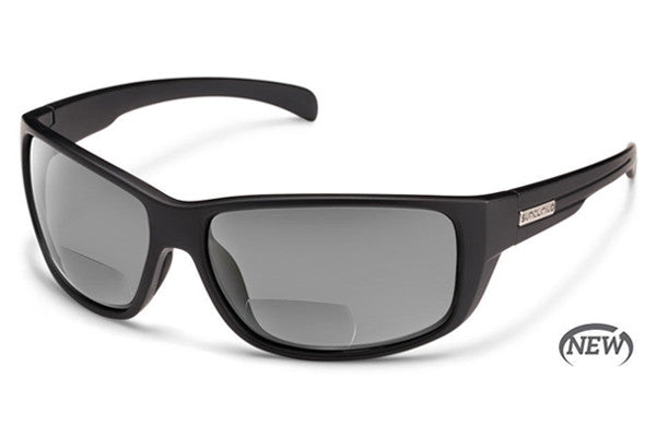 Suncloud Milestone Matte Black Reader Sunglasses, Gray Polarized Lenses