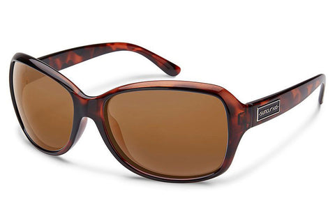 Suncloud - Mosaic Tortoise Sunglasses, Brown Lenses