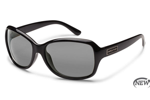 Suncloud - Mosaic Black Sunglasses, Gray Polarized Lenses