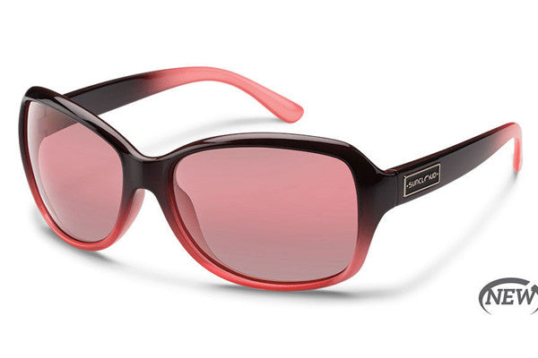 Suncloud - Mosaic Black Fade Sunglasses, Rose Polarized Lenses