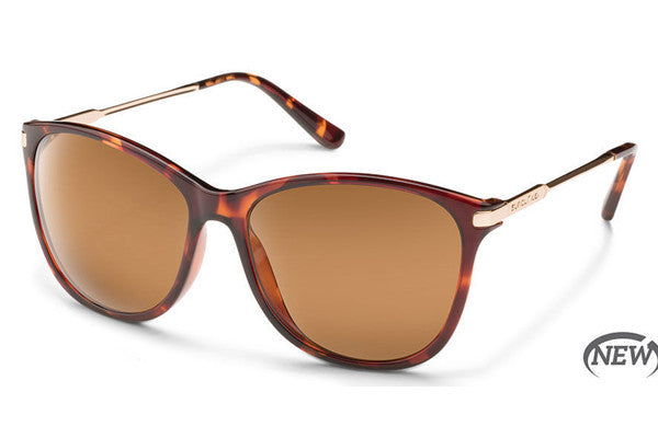 Suncloud - Nightcap Tortoise Sunglasses, Brown Polarized Lenses