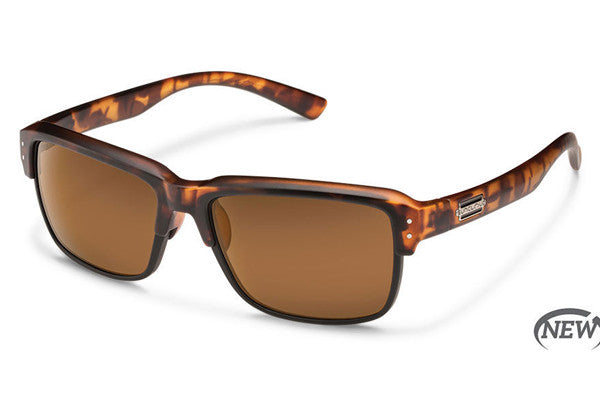 Suncloud - Port O Call Matte Tortoise Sunglasses, Brown Polarized Lenses