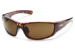 Suncloud Pursuit Tortoise Sunglasses, Brown Polarized Polycarbonate Lenses