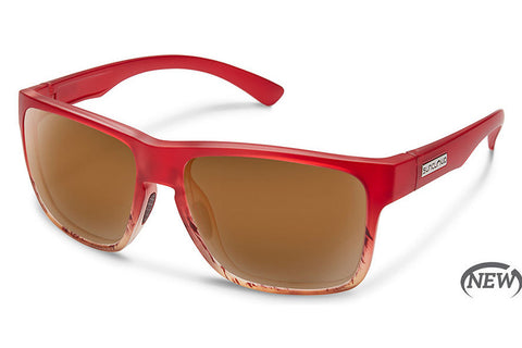 Suncloud - Rambler Red Tortoise Sunglasses, Brown Lenses