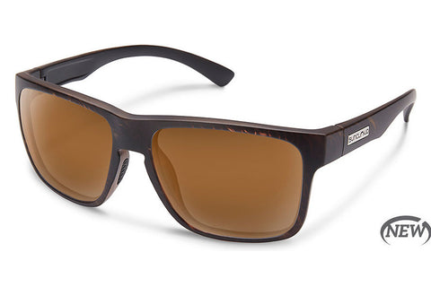 Suncloud - Rambler Blackened Tortoise Sunglasses, Brown Lenses