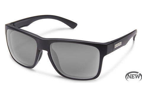 Suncloud Rambler Matte Black Sunglasses, Gray Lenses