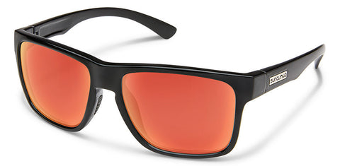 Suncloud - Rambler Black Sunglasses / Polarized Red Mirror Lenses