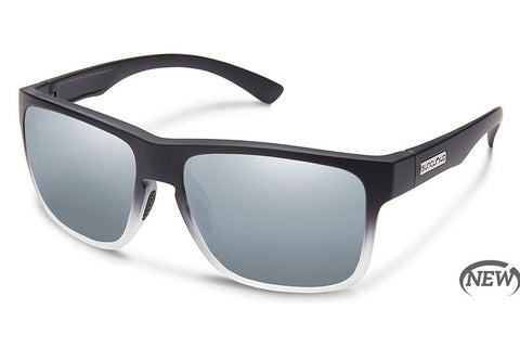 Suncloud - Rambler Black Gray Fade Sunglasses, Silver Mirror Lenses