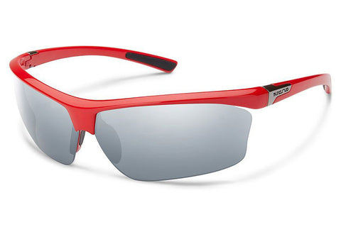 Suncloud - Roadmap Red Sunglasses, Silver Mirror Lenses