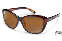 Suncloud Skyline Tortoise Sunglasses, Brown Lenses