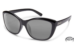 Suncloud Skyline Black Sunglasses, Gray Lenses