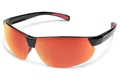 Suncloud - Switchback Black Sunglasses, Red Mirror Lenses