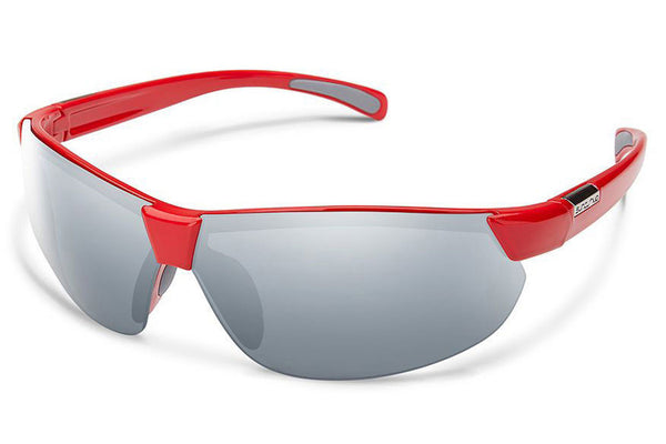 Suncloud - Switchback Red Sunglasses, Silver Mirror Lenses