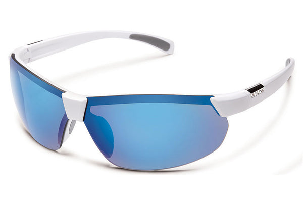 Suncloud - Switchback White Sunglasses, Blue Mirror Polarized Polycarbonate Lenses