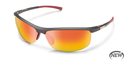 Suncloud - Tension Matte Graphite Sunglasses / Polarized Red Mirror Lenses