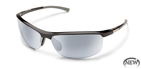 Suncloud - Tension Black Sunglasses / Polarized Silver Mirror Lenses